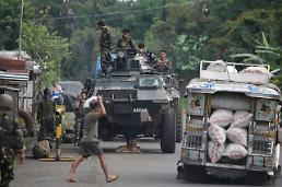 .[GLOBAL PHOTO] Philippine military and Muslim militants clash prolongs.