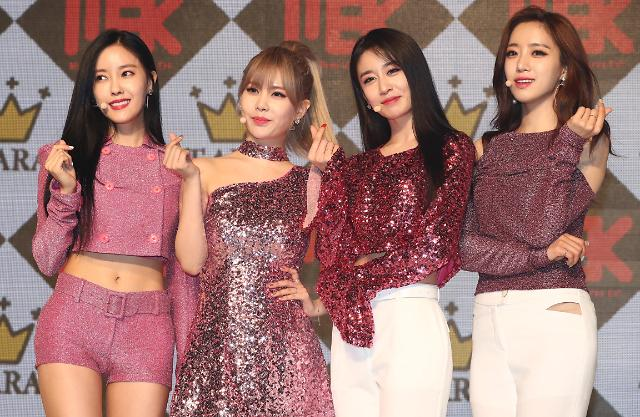 女团T-ara举行新辑Showcase~女神范十足