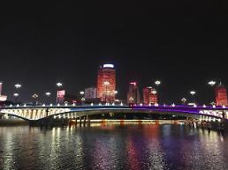 .[AJU VIDEO] 美不胜收的宁波三江口夜景.
