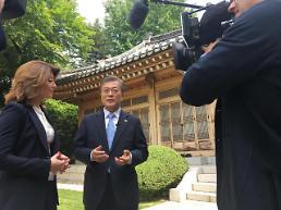 .文在寅总统接受美国CBS专访 称希望朝鲜年内重回谈判桌.