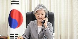 .韩国外长康京和与美国国务卿蒂勒森通电话.