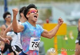 김국영, 100m 10초07…이틀 만에 한국新 달성