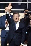 Moon seeks separate talks with leaders of China, Russia and Japan in Germany