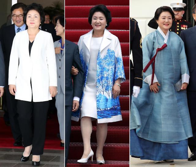 """韩""""第一夫人""""时尚外交引媒体关注"""