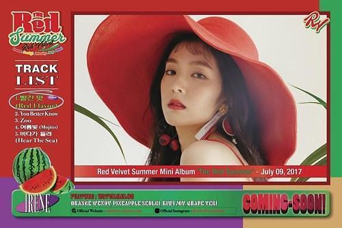 Red Velvet于7月9日发布新辑 主打曲《Red Flavor》