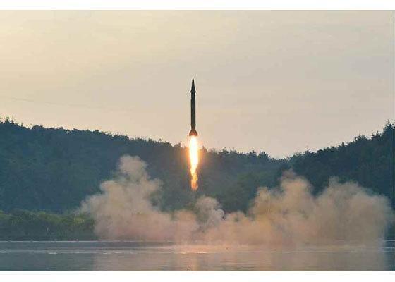 朝鲜再次发射弹道导弹
