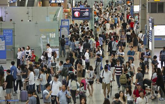 韩国出境游人数大增 人均消费原地踏步