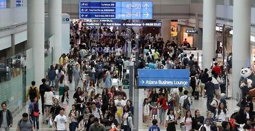夏季休假仁川机场人流量或达684万人次 8月13日迎人流高峰