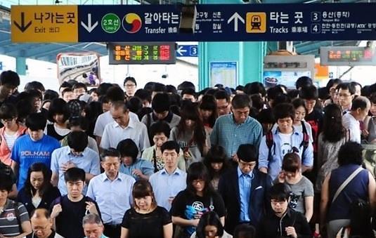 韩国白领上下班时间需多久? 近两个小时是常事