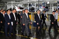 鄭義宣現代車副会長、中国行...重慶工場の点検