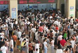 [영상중국] 푹푹찌는 중국, 더위 먹은 아이들에 소아과 북새통
