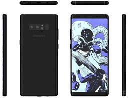 .Purported Galaxy Note 8 images leaked by case maker.