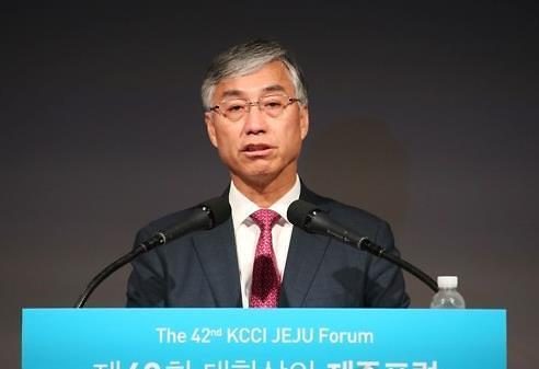 中国驻韩大使邱国洪出席济州论坛并发表演讲