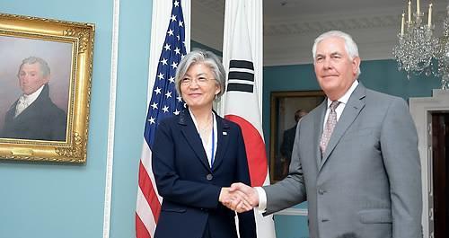 韩美外长通话商定紧密合作应对朝鲜核导