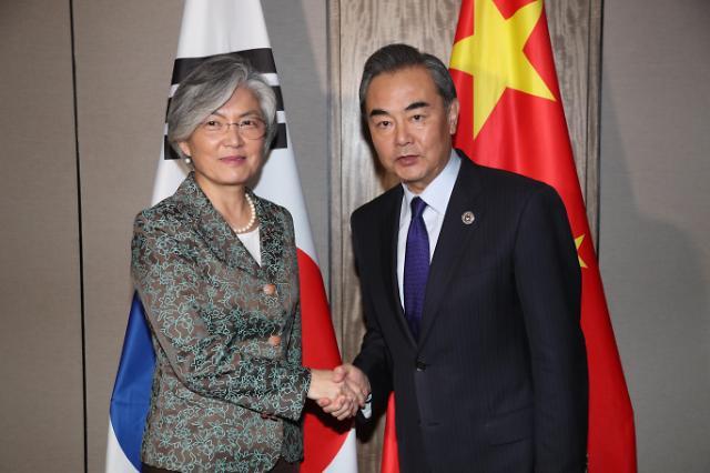 韩中外长在菲会晤商讨萨德入韩问题
