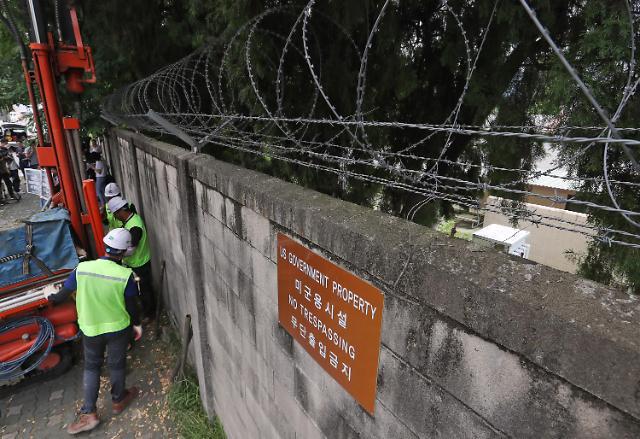 韩国开始调查龙山美军基地墙外污染程度