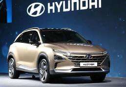 .现代汽车公开氢燃料电池汽车.