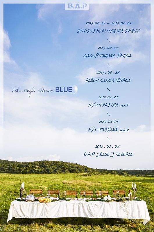 B.A.P将于9月5日携新辑《BLUE》回归乐坛