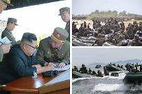 북한, 한달만에 미사일 도발… 한미 군사훈련 반발