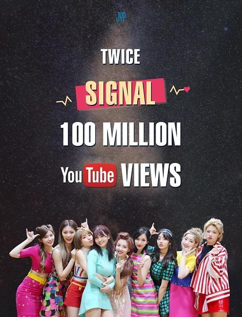 女团TWICE共5首歌曲MV在YouTube播放量破亿