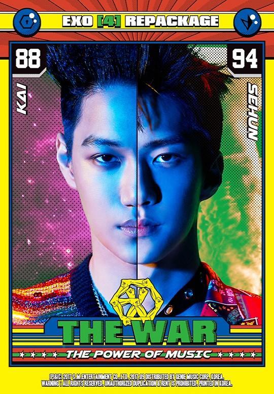 EXO成员KAI及世勋重装版4辑专辑预告照公开