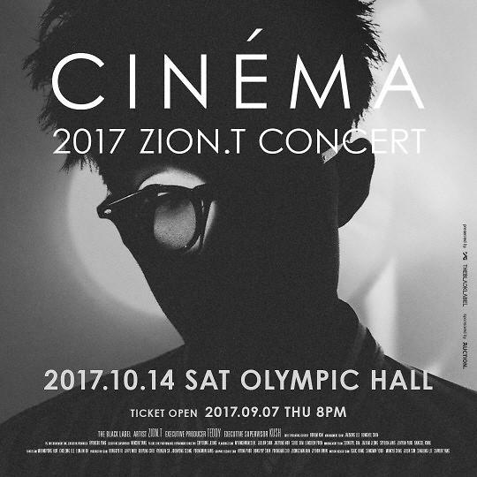 ZION.T将于10月14日举行单独演唱会 门票7日开售