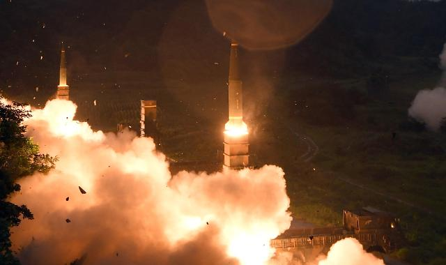 韩军进行导弹发射演习对朝武力示威