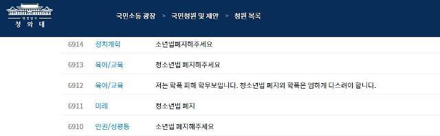 釜山中学女生暴力事件震惊韩国 超12万民众青瓦台请愿要求废除青少年法