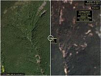 북한 6차 핵실험으로 풍계리 일대  광범위한 산사태와 지형변화 - 38노스