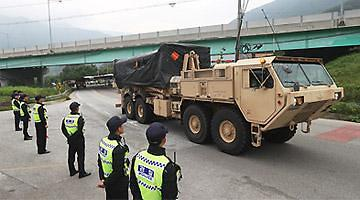 <快讯> 4辆萨德发射车正式进入星州基地