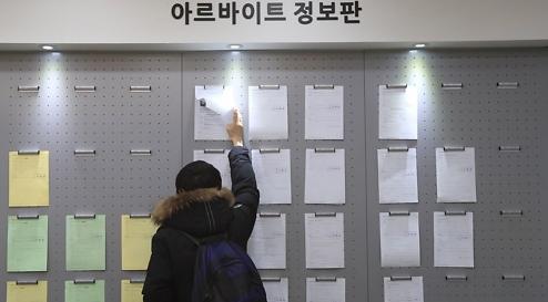 调查:韩逾五成大学生做兼职