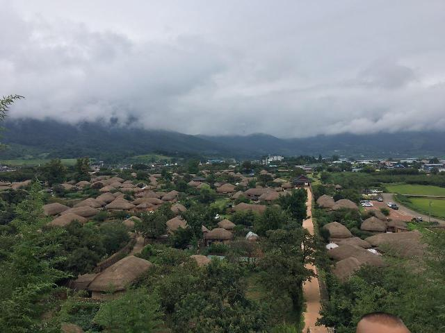 [AJU VIDEO] 雨后俯视乐安邑城 雾气蒙蒙