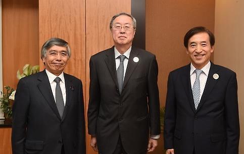 韩中日央行行长会议不谈韩中货币互换