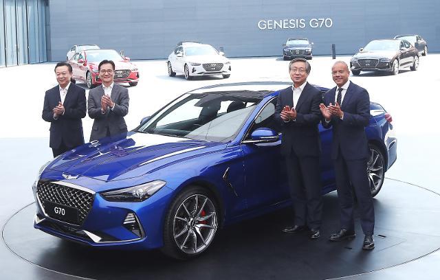 现代发布中型豪车捷恩斯G70  与宝马奔驰展开竞争