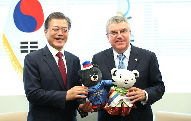 文在寅会见国际奥委会主席托马斯·巴赫