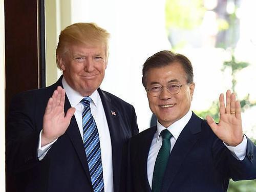韩美首脑明日举行会谈 或加大对朝施压