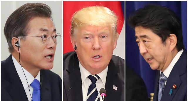 한·미·일 정상 북한 견디지 못하게 최고강도 압박해야
