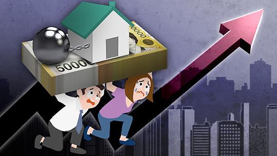 今年一季度韩家庭负债偿还负担增加 创1999年以来新高