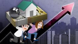 .今年一季度韩家庭负债偿还负担增加 创1999年以来新高.