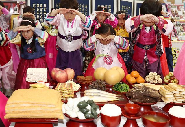 韩国中秋祭祀时如何行礼?小朋友们告诉你