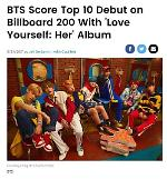 BTS新辑登美公告牌200强专辑榜第7