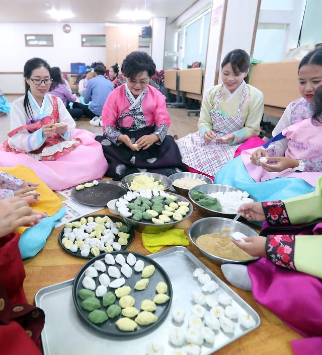 外国媳妇体验韩国中秋传统文化