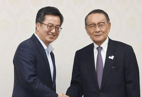 韩财长会见日本企业家代表团