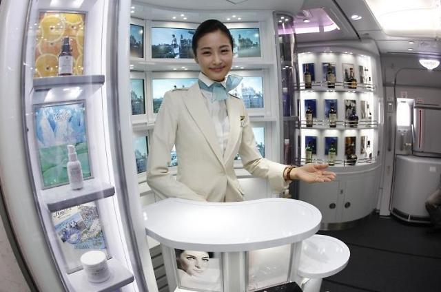去年韩航空公司机上免税品销售额逾3千亿韩元 高端威士忌酒最畅销