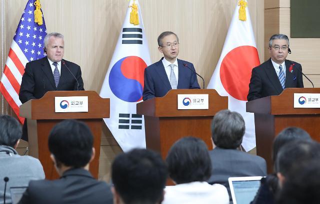 韩美日副外长在首尔举行战略对话 政府或发表对朝单边制裁方案