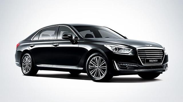 现代捷恩斯EQ900成文在寅全新座驾 看历任韩国总统都坐什么车?