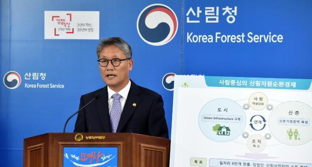 김재현 산림청장 산림분야서 일자리 일자리 6만개 만든다