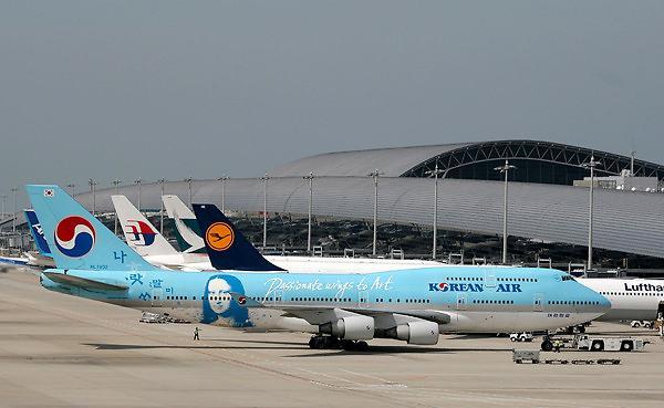 韩国仁川机场每100次航班中有7次延误