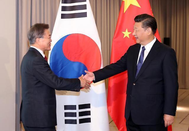 韩青瓦台:韩中在首脑会谈前加强协调萨德