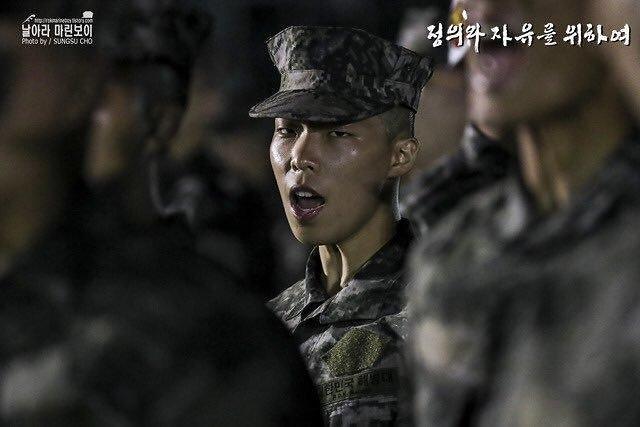 乐童音乐家李赞赫被分配至海军陆战队第1师团 以步兵身份服役